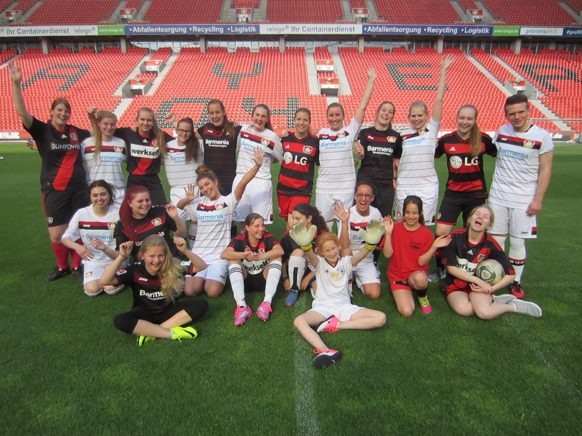 Mädchenfussballgruppe